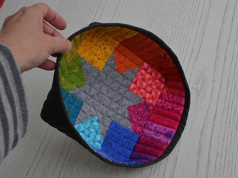 Kleinesbild - Stoffkörbchen ♡ Regenbogen ♡ mit Stern ✂✂✂