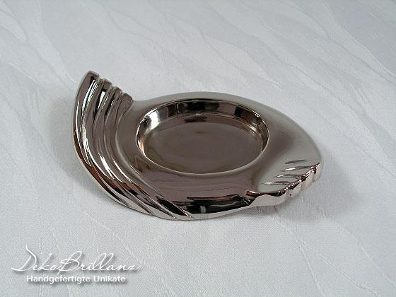 - Kerzenständer Kerzenhalter Flügelform Silber Poliert Messing NEU - Kerzenständer Kerzenhalter Flügelform Silber Poliert Messing NEU