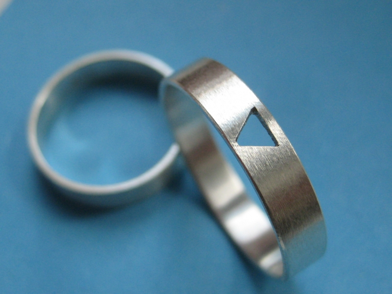 - Silberring mit Durchblick - Silberring mit Durchblick