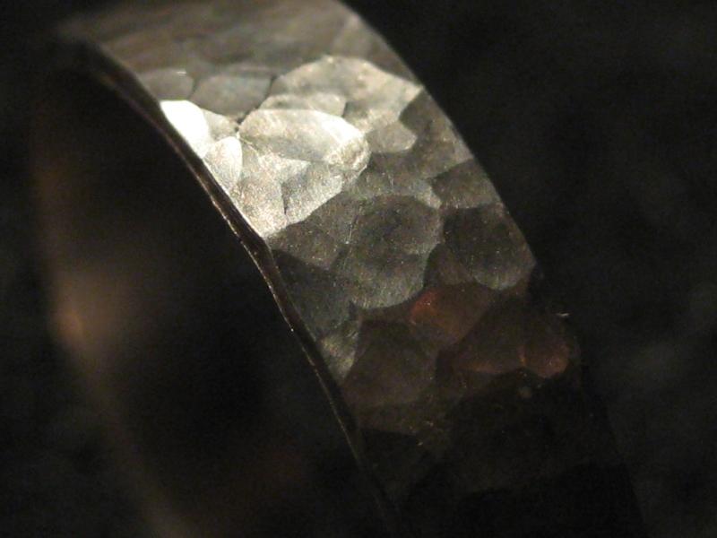 Kleinesbild - Schmiedering zart Silber