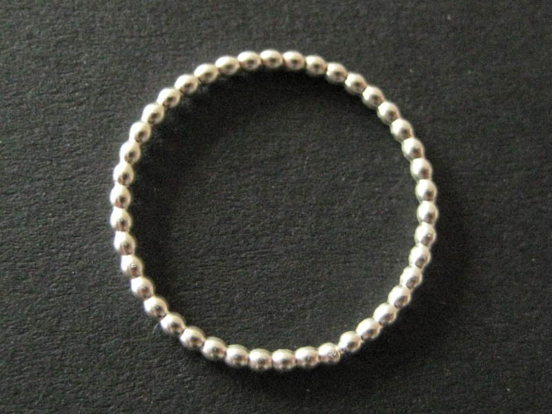 Kleinesbild - Perlring Silber Ring aus Perldraht
