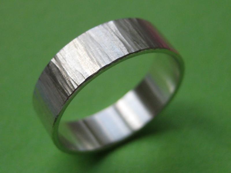 Kleinesbild - Strukturierter Silberring Struktur