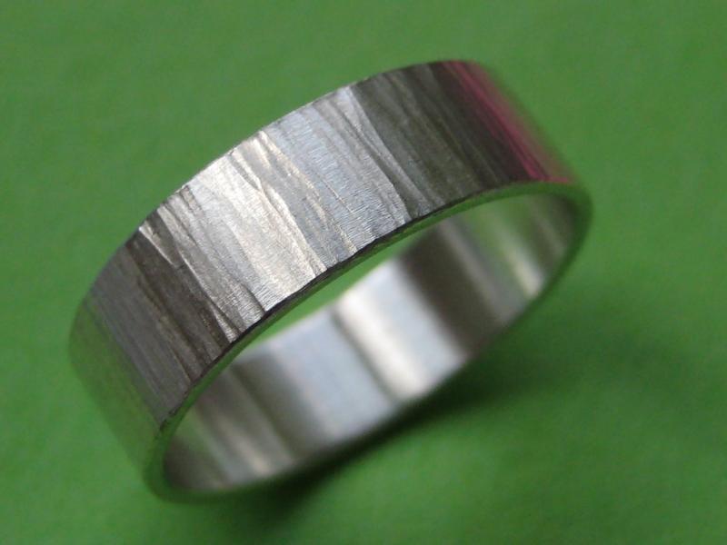 - Strukturierter Silberring Struktur - Strukturierter Silberring Struktur