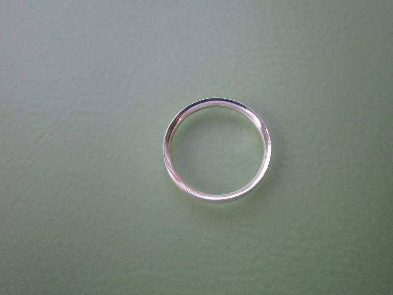 Kleinesbild - Silberring matt & glatt Halbrundprofil