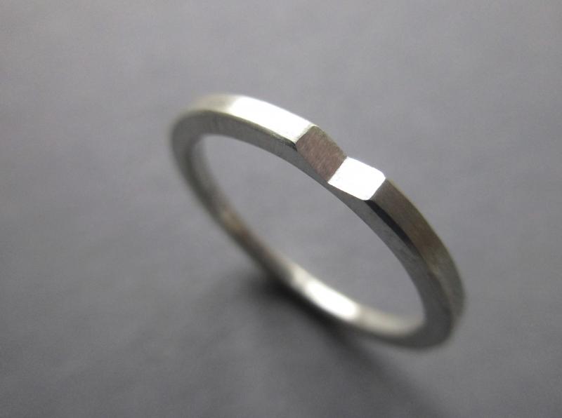 - Silberring präsent mit Facette - Silberring präsent mit Facette