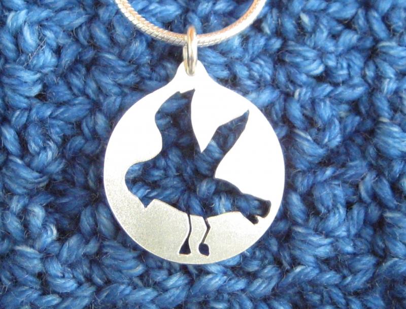 Kleinesbild - -Möwengruß- Silberanhänger mit Kette