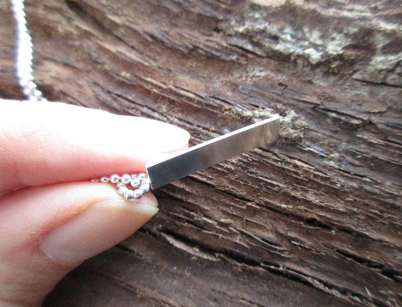 Kleinesbild - Silberanhänger -pretty simple- mit Perlöse an Kugelkette