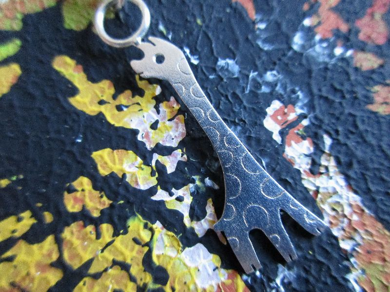 Kleinesbild - Silberanhänger -Kleine Giraffe- mit besonderer Silberkette