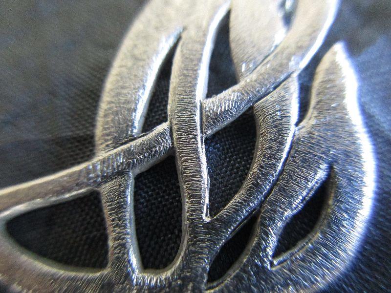 Kleinesbild - Anhänger -Feuer und Flamme- Silberanhänger mit passender Silberkette Erbsösenkette