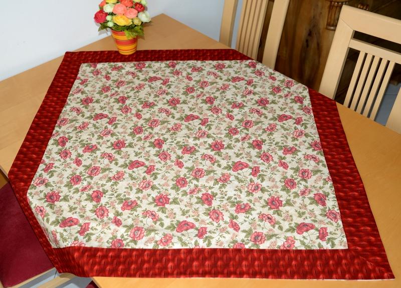 - schöne  sommerliche Mohnblumen-Tischdecke - schöne  sommerliche Mohnblumen-Tischdecke