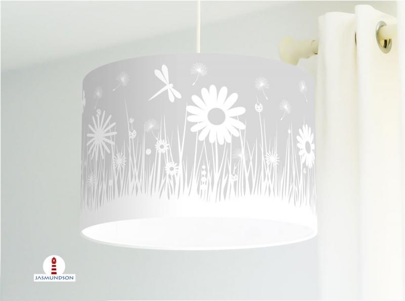 Deckenlampe Kinderzimmer Mit Blumen In Grau Fur Madchen Madchenzimmer Babys Andere Farben Moglich