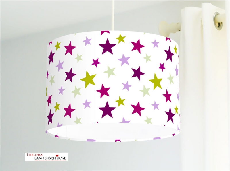 Lampe Kinderzimmer Mit Sternen In Pink Grun Fur Madchen Babys Alle Farben Moglich