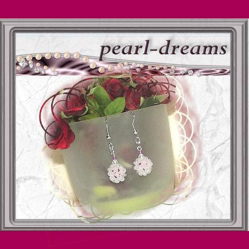 - Ohrringe mit einer Perlenkugel  - Ohrringe mit einer Perlenkugel