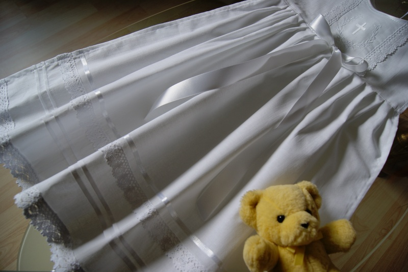 Kleinesbild - Taufe Taufaufleger Taufüberwurf  Taufkleid Baumwolle