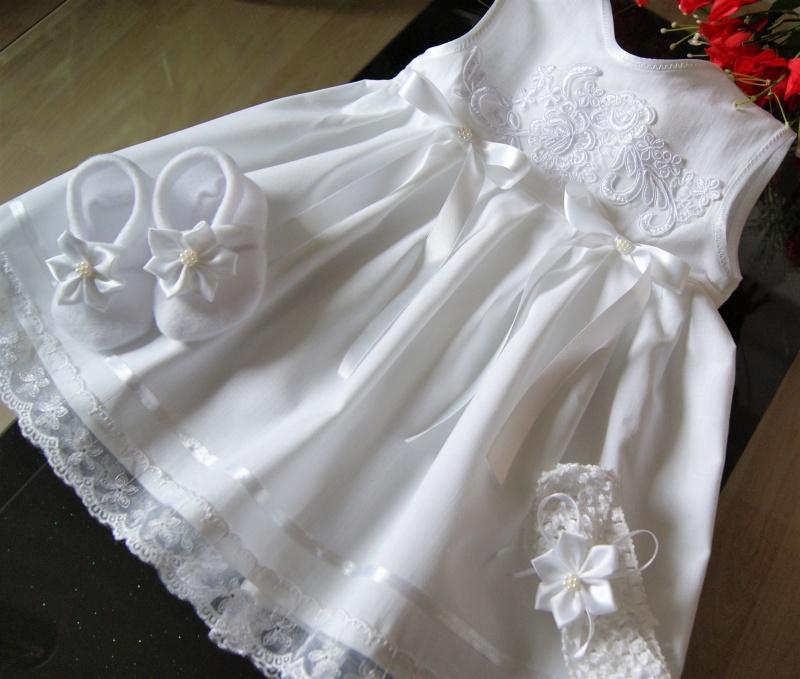 Kleinesbild - Taufkleid 3- tlg Taufe Baby*Mädchen, 62-68-74- 80-86 Festkleid ,Taufkleidung