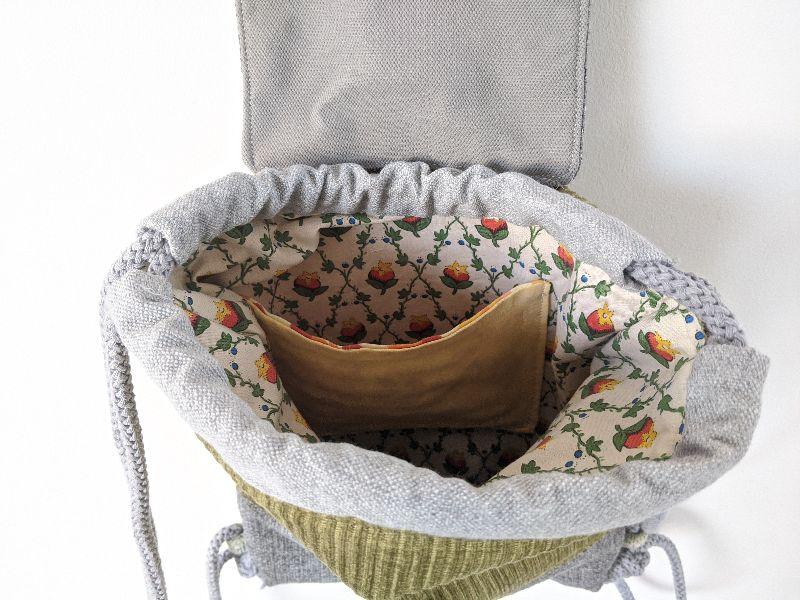 Kleinesbild -  ♥ Rucksack klein ♥ Maße 35 cm x 27 cm, Shopper, Turnbeutel, Tasche, Rucksackliebe