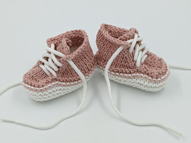 Kleinesbild -   ♥ Babystrickschuhe ♥ Taufgeschenk, Geburtsgeschenk, Babygeschenk, Strickschühchen