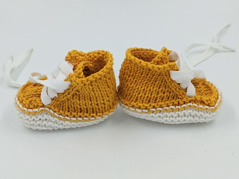 Kleinesbild -   ♥ Babystrickschuhe ♥ Taufgeschenk, Geburtsgeschenk, Babygeschenk, Strickschühchen (Kopie id: 100276413)
