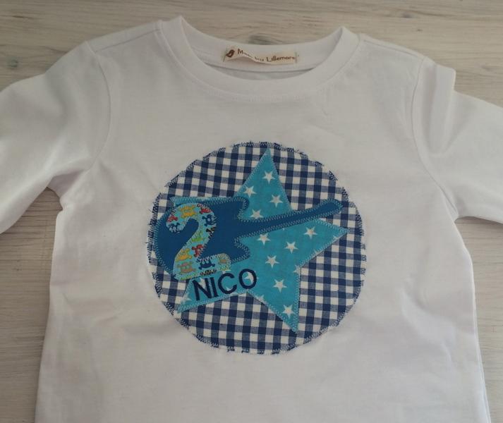 - handgefertigtes Geburtstagsshirt mit Zahl, Sternen und Namen: Rockstar - handgefertigtes Geburtstagsshirt mit Zahl, Sternen und Namen: Rockstar