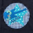 Kleinesbild - handgefertigtes Geburtstagsshirt mit Zahl, Sternen und Namen: Rockstar