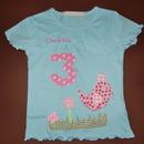Kleinesbild - handgefertigtes Geburtstagsshirt mit Zahl, Vogel und Namen: Königsvogel