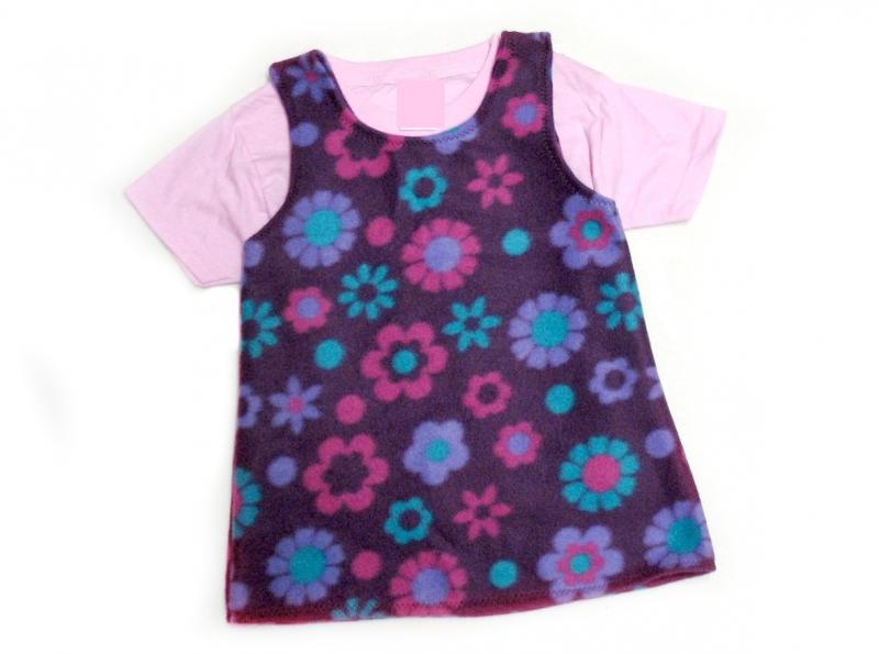 Kleinesbild - Gr: 92, 98      Tunika ~ Kleid ~ Hängerchen ~ Blume