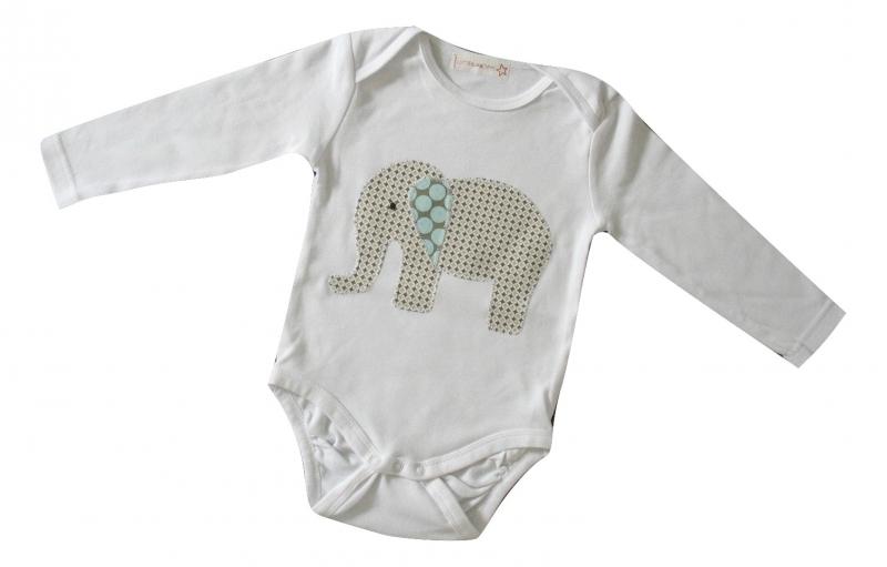 - Gr: 86    Baby - Body mit Elefant - Retro - Gr: 86    Baby - Body mit Elefant - Retro