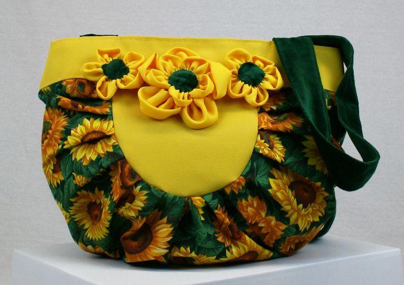 Kleinesbild - Handtasche ♥ Sunflower Yellow ♥ Schultertasche Shoppingtasche Bag Shopper