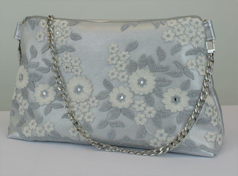 Kleinesbild - Handtasche ♥ Eiskristall ♥ Schultertasche Glitzertasche Bag