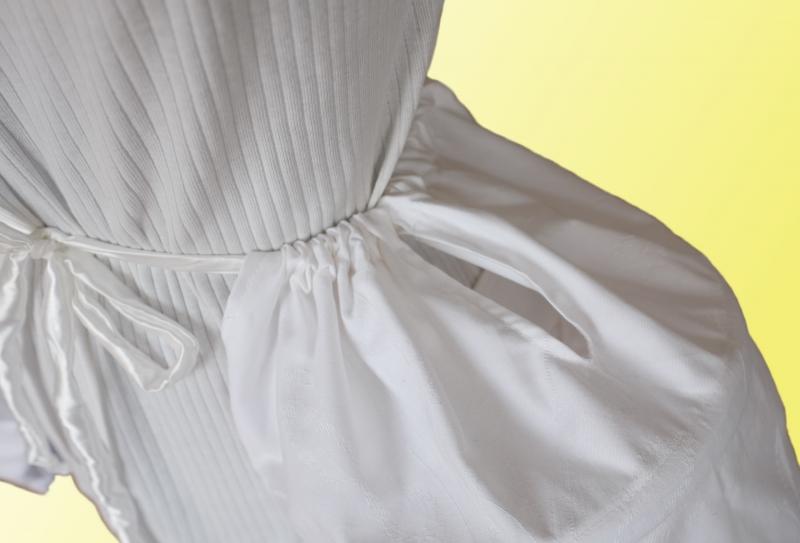 Kleinesbild - Rokoko Panier Poschen Pocket Hoops -weiss- Reifrock