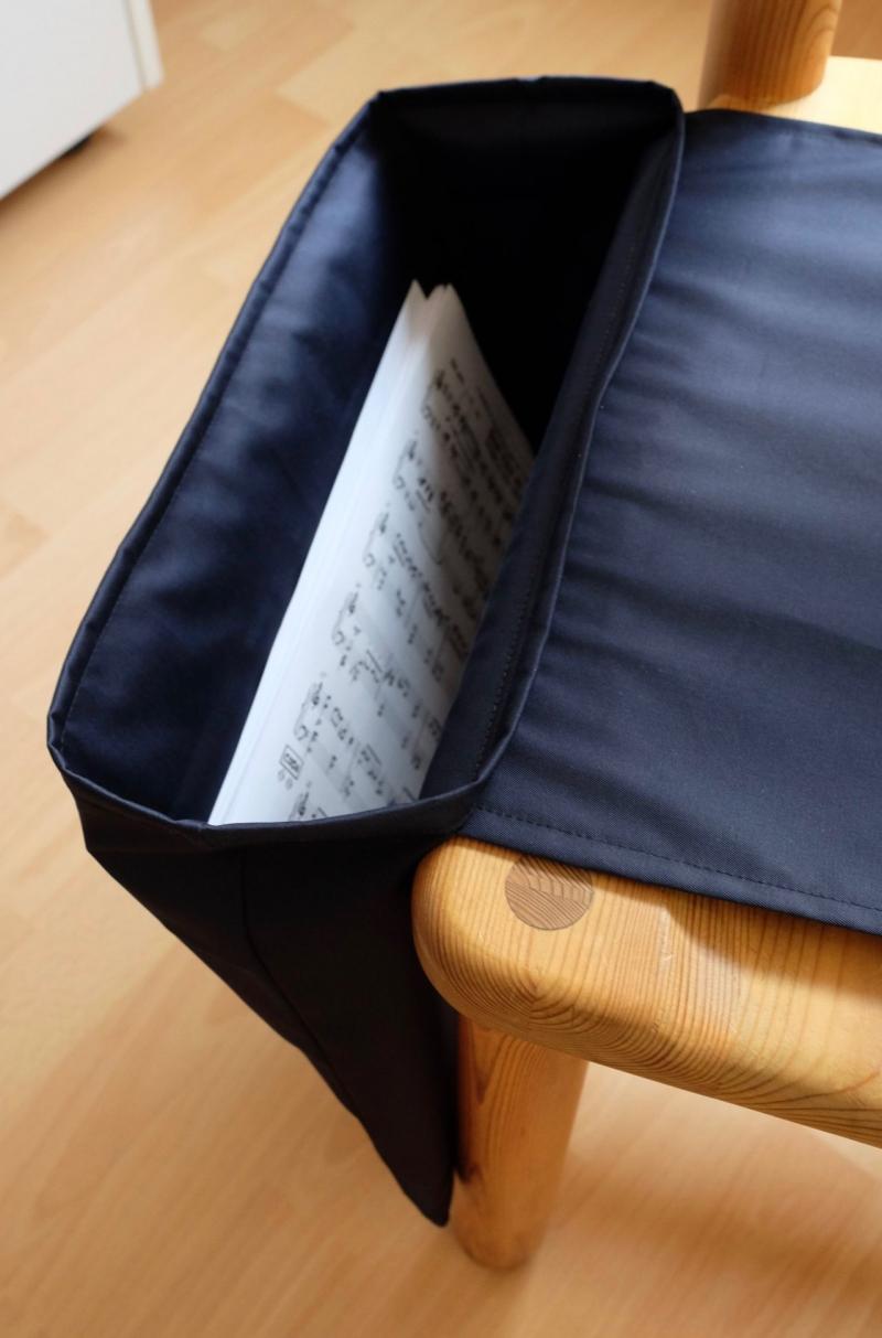 Kleinesbild - Doppel - Notentasche Tischharfe -schwarz- für Musiker
