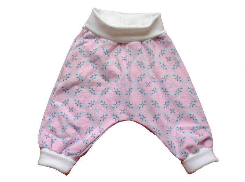 - Babyhose Pumphose Mitwachshose Gr. 68 rosa-türkis - Babyhose Pumphose Mitwachshose Gr. 68 rosa-türkis