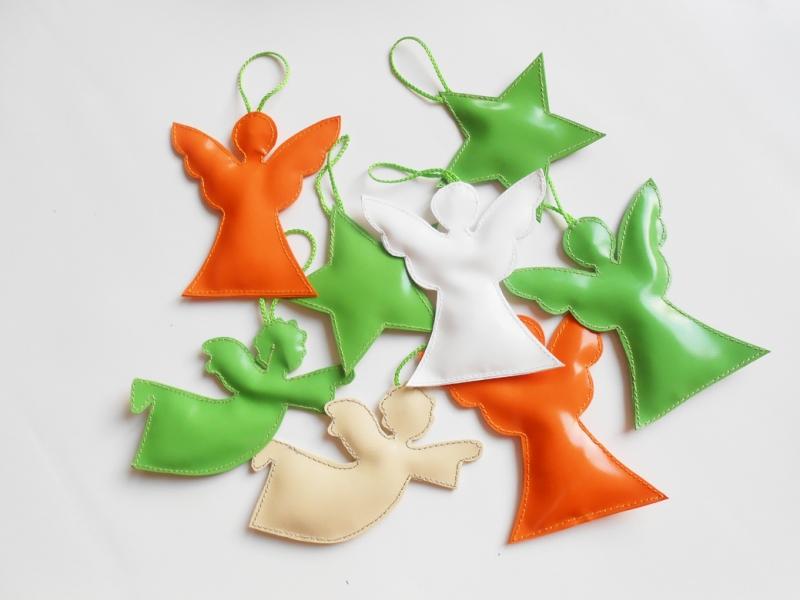 Kleinesbild - Toller Engel Aufhänger aus LKW Plane für drinnen und draußen, Garten, Baum, Weihnachten