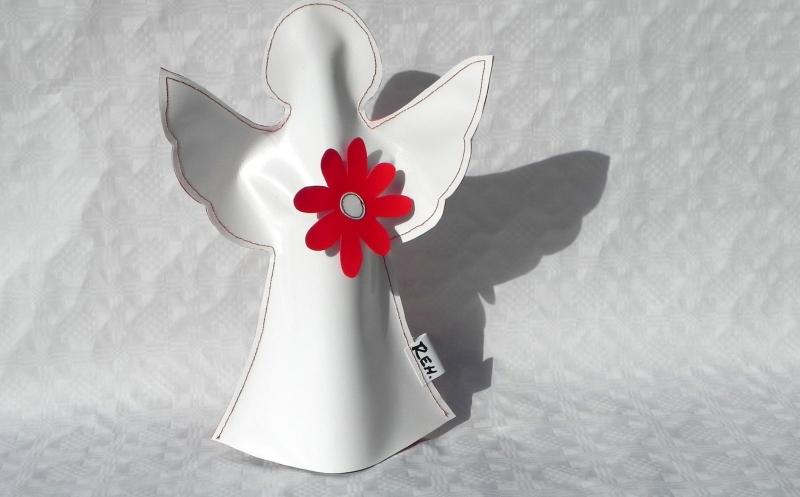Kleinesbild - Toller Engel aus LKW Plane für drinnen und draußen, Garten, Balkon, Weihnachten (Kopie id: 100146061) (Kopie id: 100212580)