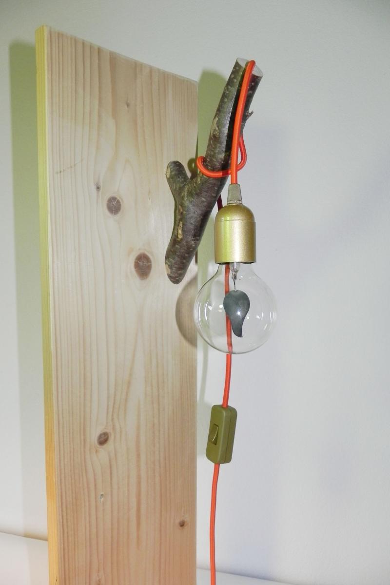 Kleinesbild - Ast Lampe Holz Holzlampe Wandlampe Baum Textilkabel Unikat (Kopie id: 100213147) (Kopie id: 100213154)