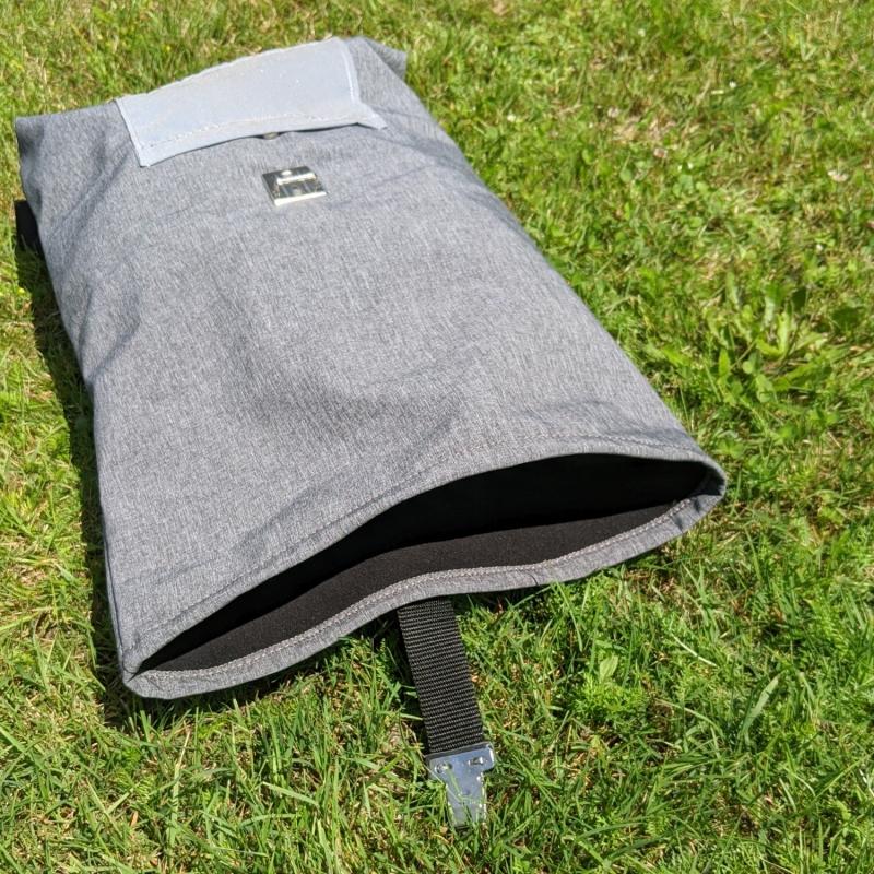 Kleinesbild - Rucksack, Umhängetasche, Softshell, Leichtgewicht, grau, echt cool, reflektierend, Shopper