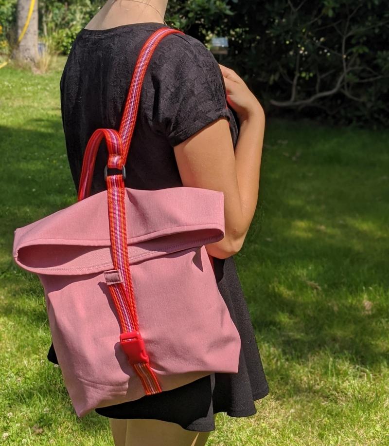 Kleinesbild - Rucksack, Umhängetasche, Softshell, Leichtgewicht, rosa, echt cool, REH., Shopper, pink, rot, wasserabweisend