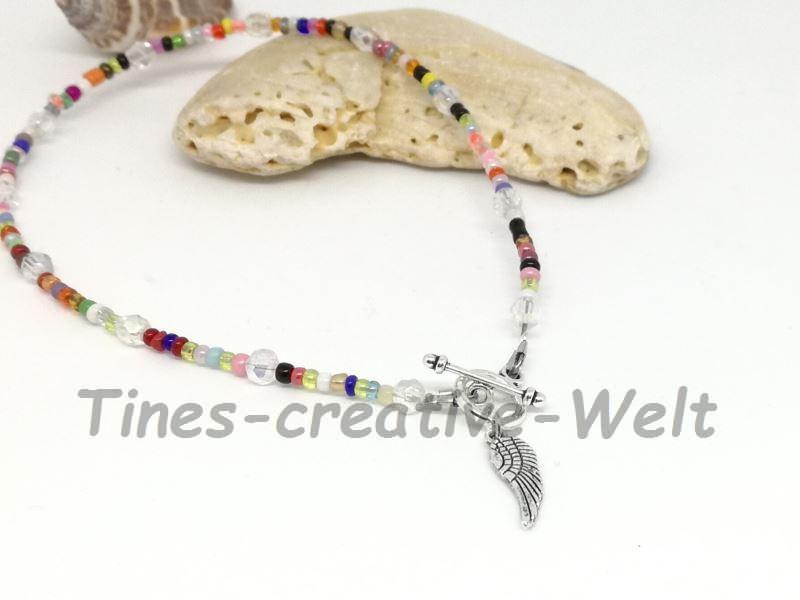 - Fußkettchen mit Glasperlen auf Juwelierdraht aufgereiht kaufen - Fußkettchen mit Glasperlen auf Juwelierdraht aufgereiht kaufen