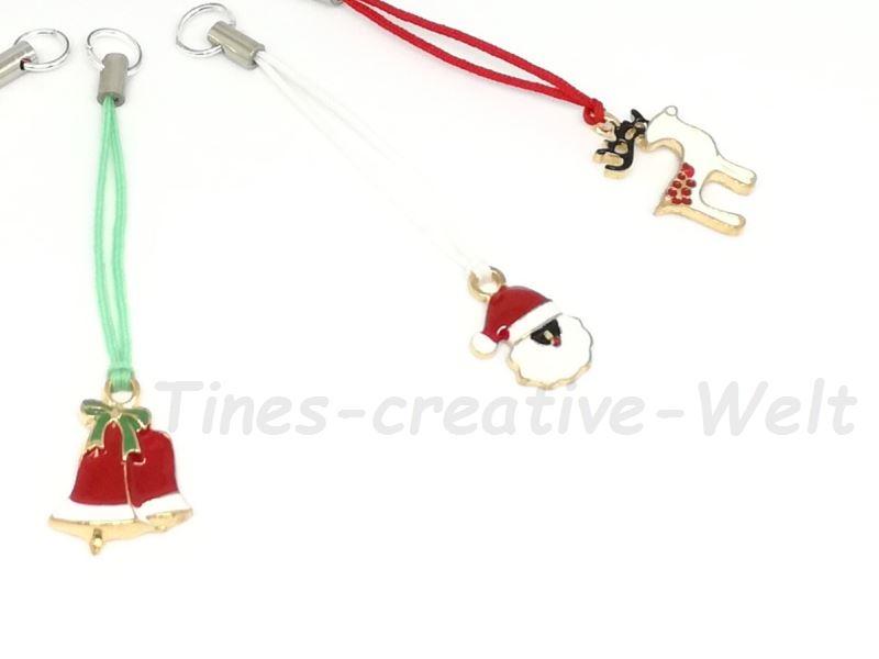 Kleinesbild - Set: 5 Anhänger für Weihnachten, Elch, Weihnachtsmann, Weihnachtsbaum