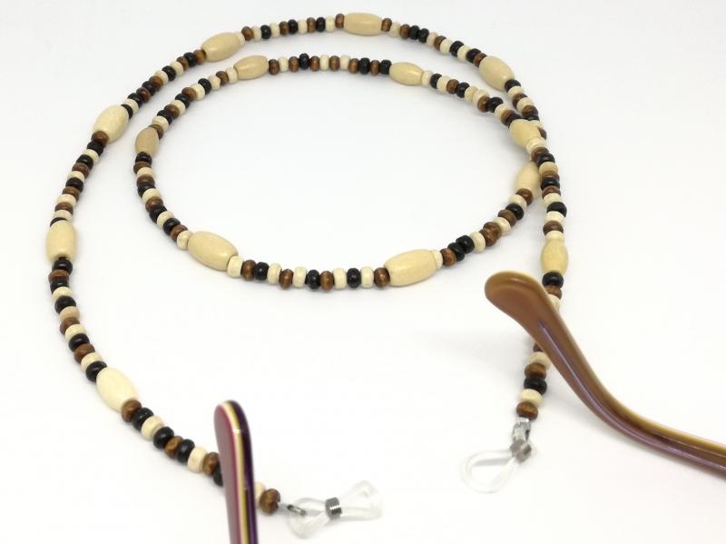 - Brillenkette, Holzperlen, Holzkette, Perlen, Halsschmuck, Schmuck, Geschenk für Frauen und Männer - Brillenkette, Holzperlen, Holzkette, Perlen, Halsschmuck, Schmuck, Geschenk für Frauen und Männer