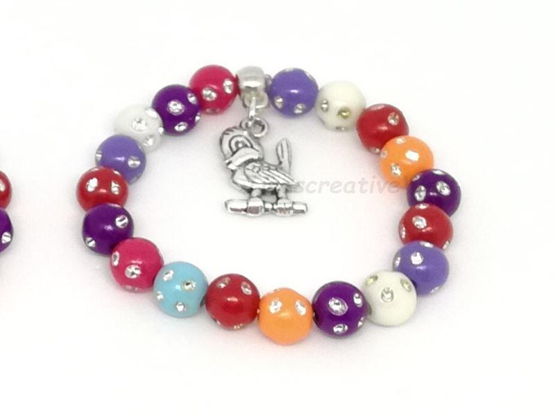 Kleinesbild - Kinder Armband, Perlenarmband, Kids, Kind, Perlen Glitzer, Kinderarmband, Schlange, Geschenk, Kindergeburtstag, Geburtstag