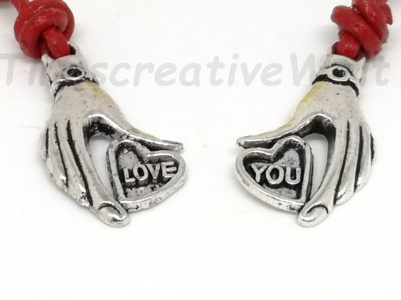 Kleinesbild - Personalisierter Partner Schlüsselanhänger, Set, Verlobung, Freundschaftsanhänger, Liebespaar, Taschenanhänger, Glücksbringer, Liebe