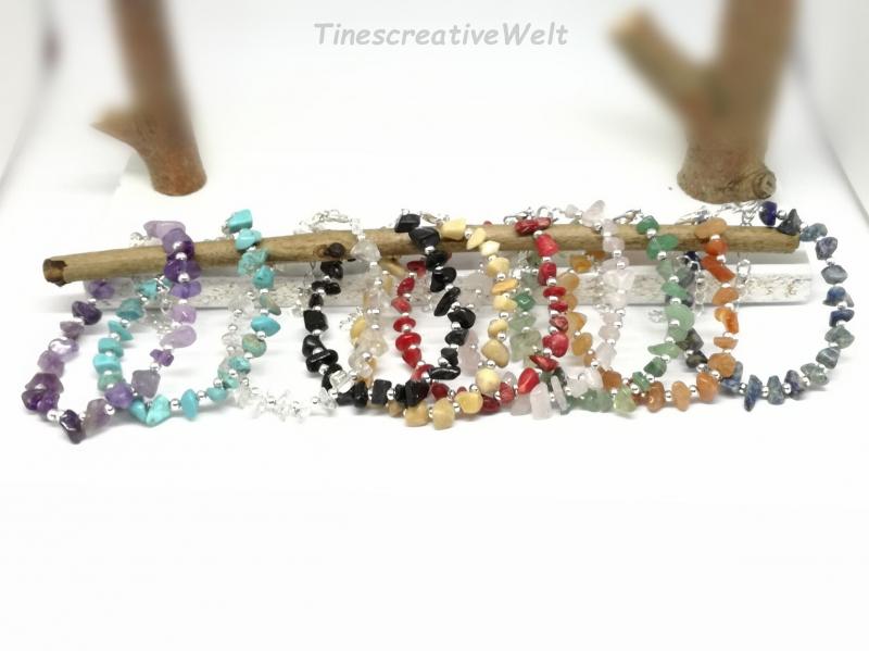 - Edelstein - Armband, Splitter, verstellbar, Geschenk für Frauen, Geschenk für Männer   - Edelstein - Armband, Splitter, verstellbar, Geschenk für Frauen, Geschenk für Männer