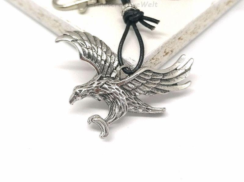 Kleinesbild - Schlüsselanhänger, Adler, Echtleder, Geschenk für Männer