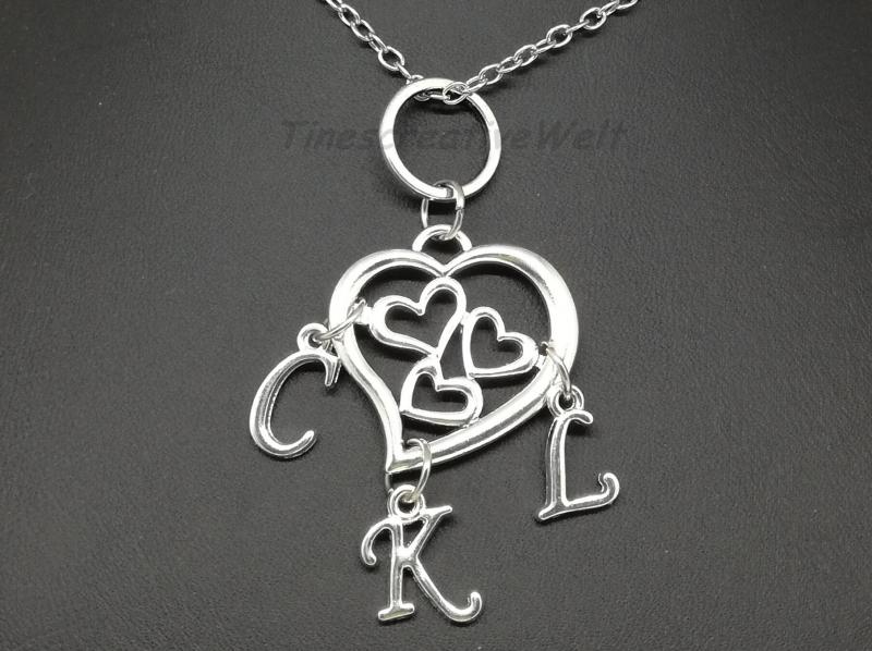 - Familienkette, personalisierte Kette, Namenskette, Herz, Mutter - Kinder, Geschenk - Familienkette, personalisierte Kette, Namenskette, Herz, Mutter - Kinder, Geschenk