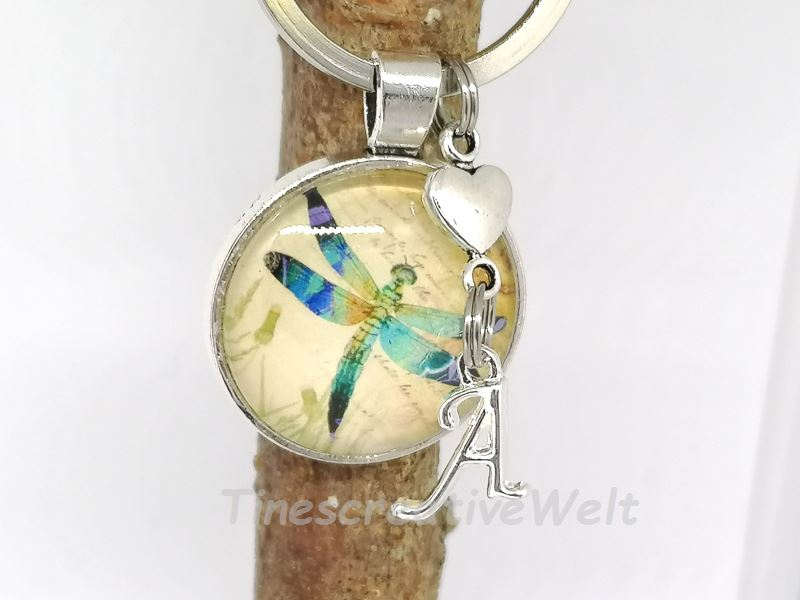 - Personalisierter Schlüsselanhänger, Libelle, Geschenk - Personalisierter Schlüsselanhänger, Libelle, Geschenk