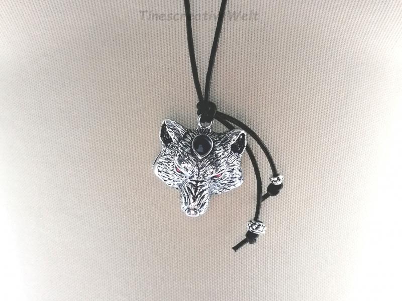 Kleinesbild - Lederkette, Wolf, Bär, Geschenk für Männer, Geschenkidee