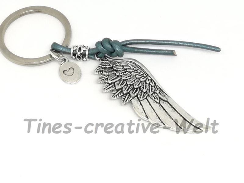 - Schlüsselanhänger, Flügel, Engelsflügel, Lederband, Taschenanhänger, Geschenk für Männer und Frauen - Schlüsselanhänger, Flügel, Engelsflügel, Lederband, Taschenanhänger, Geschenk für Männer und Frauen