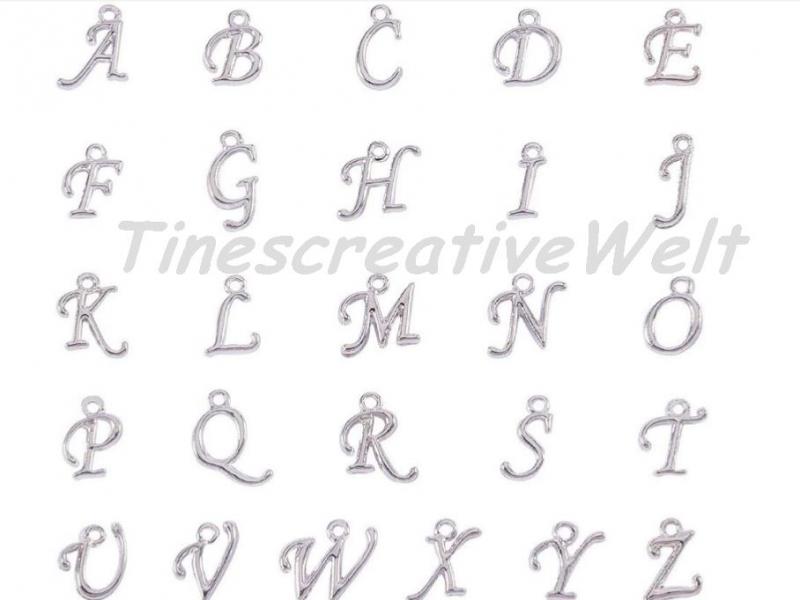 Kleinesbild - Personalisierbarer Schlüsselanhänger, Marienkäfer, Herz, Glücksbringer,  Anfangsbuchstabe, Glascabochon, Geschenk