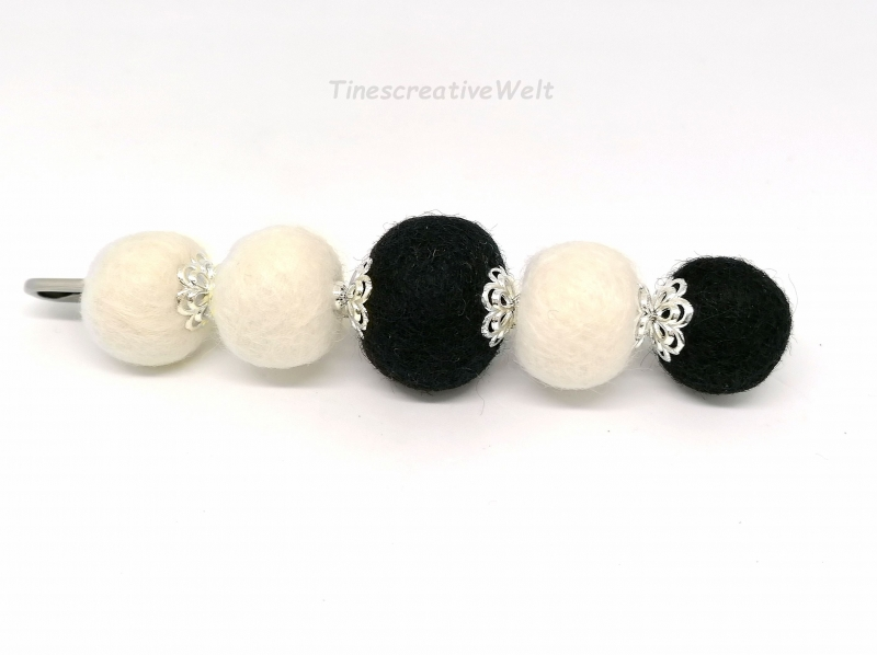 - Anstecknadel mit Filzkugeln aus Schurwolle, Geschenk für Frauen - Anstecknadel mit Filzkugeln aus Schurwolle, Geschenk für Frauen
